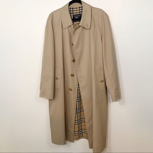 Burberry Long Driving Trench Coat Size 52